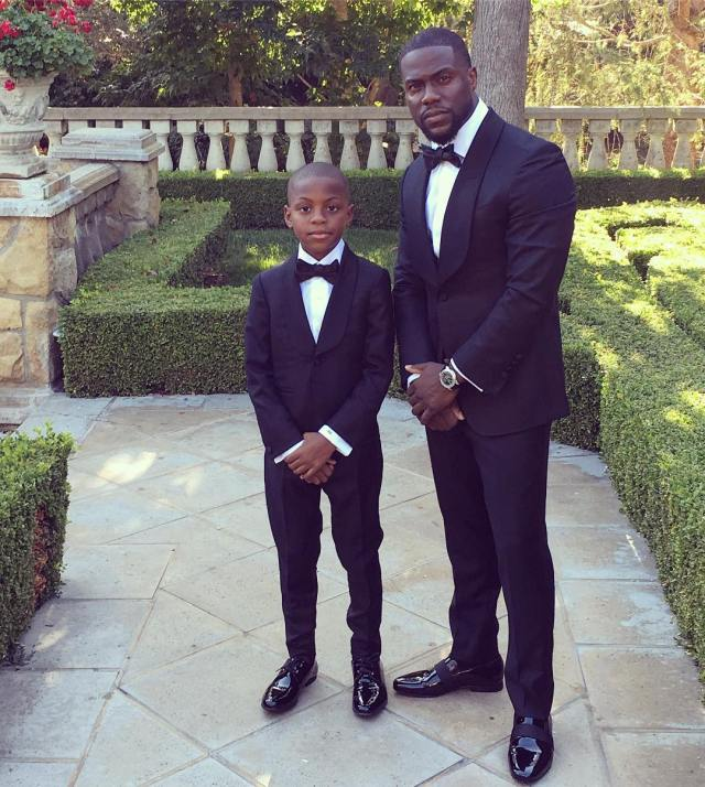 Kevin Hart and his son