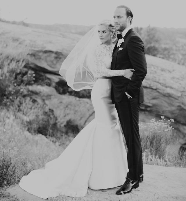 "Morgan Stewart & Brendan Fitzpatrick said ""I do"" at Hummingbird Nest Ranch located just outside of Beverly Hills."