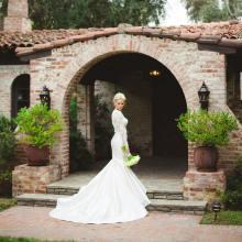Morgan Stewart in her custom designed Badgley Mischka wedding gown