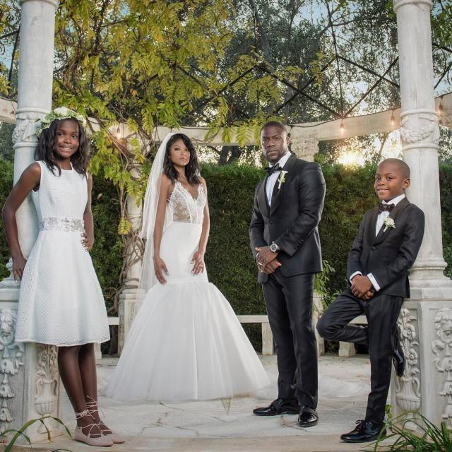 The Harts on Kevin & Eniko's wedding day